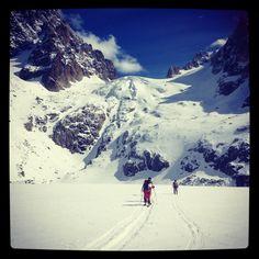 #argentiere #chamonix #chardonnet spring skiing by blue bird day