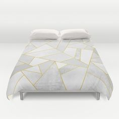 Buy ultra soft microfiber Duvet Covers featuring White Stone by Elisabeth Fredriksson. Hand sewn and meticulously crafted, these lightweight Duvet Cover vividly feature your favorite designs with a soft white reverse side.
