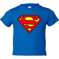 Camiseta Superman logo, Azul Royal, 18-24 meses #camiseta #friki #moda #regalo