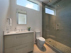Modern Guest Bathroom | 440 W DILIDO DR, MIAMI BEACH, FL 33139 | Jeff Miller Group