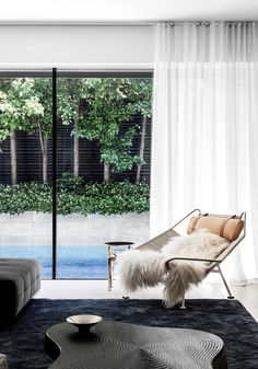 An Edwardian home's modern revamp in inner-city Melbourne | Belle Residential Interior Design, Interior Architecture, Burnt Orange Curtains, Steel Frame Doors, World Architecture Festival, Edwardian House, Victorian, Metal Side Table, Create Space