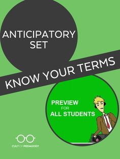 With a well-crafted, well-executed anticipatory set, student engagement becomes an art.   Cult of Pedagogy Cult Of Pedagogy, Student Engagement, Career Advice, Professional Development, Knowing You, Teacher, Art, Career Counseling, Art Background