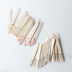 Printed Wooden Ice Pop Sticks // option for challenge cards