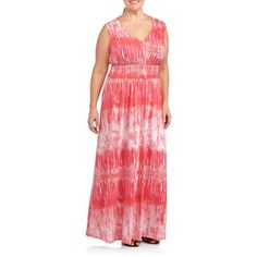 Fourteenth Place Women's Plus-Size Sleeveless V-Neck Maxi Dress