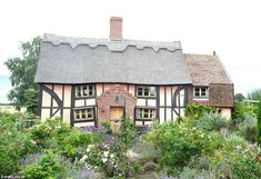 The 'wibbly wobbly cottage', on sale in the village of Ilketshall St Margaret near Bungay, Suffolk, dates back to 1590.