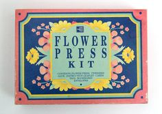 Vintage John Adams Toys Flower Press Kit, 1973
