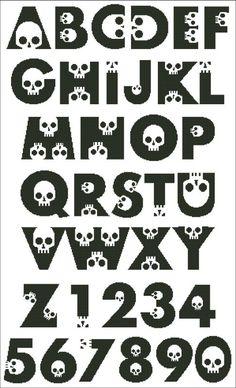 skull alphabet
