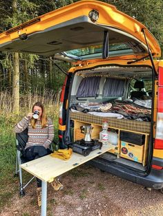 17 Most Popular Easy DIY RV Camping Tool Ideas That You Need To Prepare - Travel until I can't no more - The Effective Pictures We Offer You About van life ideas A quality picture can tell you many thing - Auto Camping, Camping Tools, Truck Camping, Camping Hacks, Minivan Camping, Outdoor Camping, Camping Checklist, Camping Essentials, Camping Gear