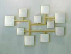 Elizabeth Garouste - feuille d or jaune sur métal