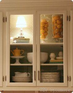 DIY - how to convert wood doors into glass doors for the kitchen cabinet {tutorial}