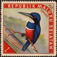 "1952 - So. Moluccas ""Birds of Paradise"" Cinderella Stamps ..."