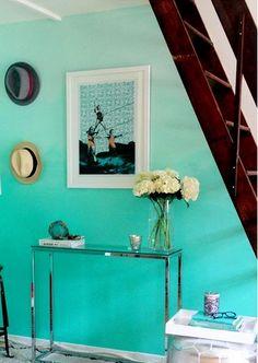 blue hombre wall - DIY