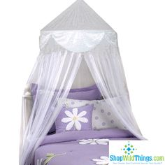 This pretty Princess Mosquito Net Bed Canopy is even fit for a QUEEN! Place it at the head of the bed (suitable for any size bed) and drape it softly around the front. You can even use these nets in fu