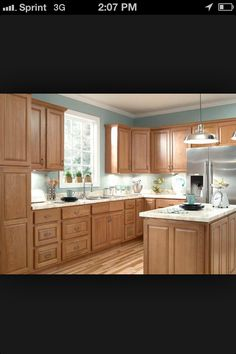 5 Top Wall Colors For Kitchens With Oak Cabinets | Oak cabinet ...