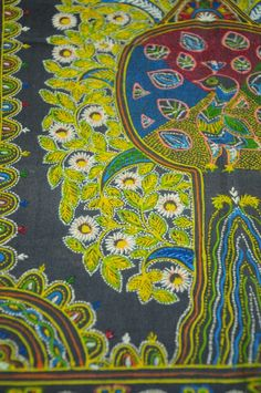 Rogan Art, a rare 300-year old free hand textile art form using castor oil as a base, is perpetuated by just one family in all of India!