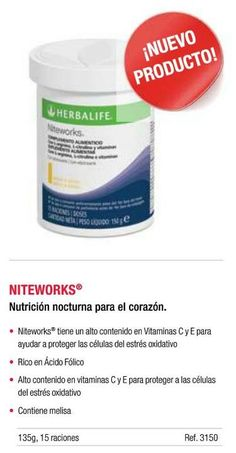 Niteworks® Powder Mix Overview This refreshing nighttime powder mix supports energy, circulatory and vascular health, and helps with Nitric Oxide (NO) production at night when NO levels are lowest.*