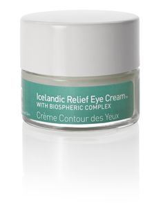 $45 Icelandic Relief Eye Cream: Lightweight contouring eye cream to minimize puffiness, wrinkles and dark circles