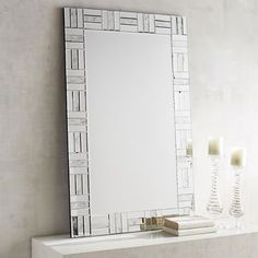 As dazzling as it is dramatic, our Janette Mirror is a modern style standout with repeating patterns of rectangular shapes that capture light for a major amount of room-enriching reflection.