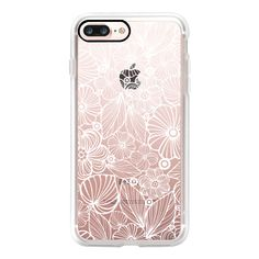 White candy flowers - iPhone 7 Case, iPhone 7 Plus Case, iPhone 7... ($40) ❤ liked on Polyvore featuring accessories, tech accessories, iphone case, flower iphone case, white iphone case, slim iphone case, iphone cases and iphone cover case