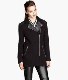 92cb5db731363 Biker-style jacket   H&M US H&m Fashion, White Fashion, Timeless