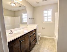 Master Bath w/Gentleman's Height Vanity  New Home  Huntsville, AL  CircaHomes.com