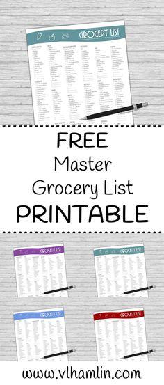 Weekly Meal Planner Template Weekly meal planner template, Meal - printable grocery lists template