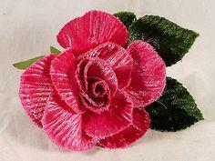 New Velvet Rose Pink Millinery Bridal Flower Crown Corsage Wedding Crafts 3 in