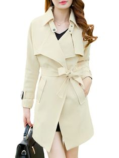 Remarkable Lapel Stylish Plain Trench-coats Only $34.95 USD More info...