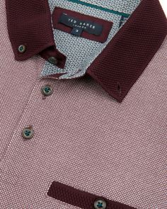 Printed polo - Dark Red   Tops & T-shirts   Ted Baker ROW