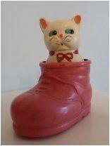 Котенок в ботинке. Целлулоид 1950-е