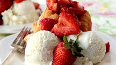 Strawberry-shortcake monkey bread recipe using grands biscuits
