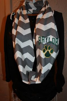 Baylor University Bears Monogram Chevron by SewSnazzybyBrook, $26.00