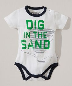 Loving this Cloud 'Dig in the Sand' Organic Bodysuit - Infant on #zulily! #zulilyfinds