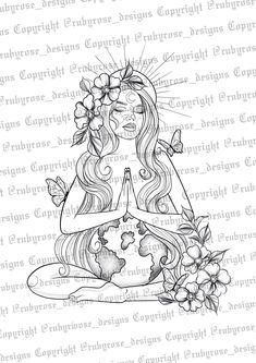 Time Tattoos, Back Tattoos, Leg Tattoos, Body Art Tattoos, Sleeve Tattoos, Greek Goddess Tattoo, Gaia Goddess, Simplistic Tattoos, Unique Tattoos