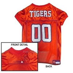 NCAA Clemson Tigers Dog Jersey - Sports Apparel - Licensed NCAA College Sports Gear -Clemson Tigers Posh Puppy Boutique