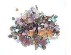4-20mm Assorted Czech Pressed Glass Bead Pink Purple