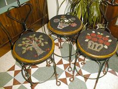 Rug Hooked Chairpads