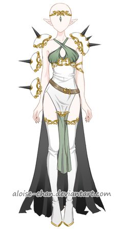[OPEN] Elf Leader Armour Adoptable by Aloise-chan.deviantart.com on @DeviantArt