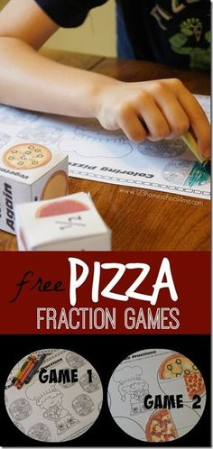 Pizza Fraction Games