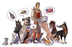 Dog Fortress 2 by Kethavel on Deviantart - Ah, this is awesome! Also, Spy as a cat is just perfect. (Team Fortress 2)