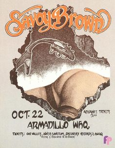 Classic Poster - Savoy Brown at Armadillo World Headquarters, Austin, TX 10/22/75 by Ken Featherston