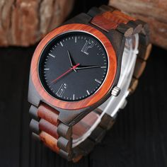 Dantes Series Wooden Watch - Sandalwood & Walnut - FREE Shipping Worldwide