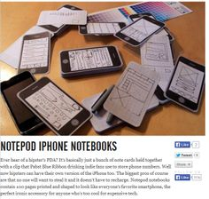 iPhone notebooks, add to your hipster PDA