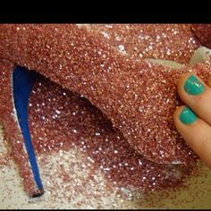 make your own glitery shoes.