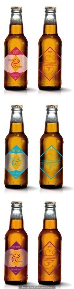 Happy Hour beers for the French brasserie La goutte d'or.