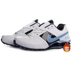 Womens Nike Shox Deliver White Blue Black Mens Nike Shox 2acb55720