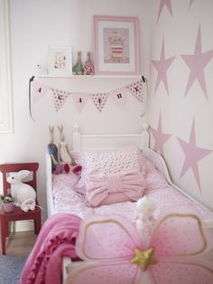 Would like a single big pink star on P's wall.