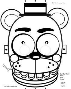 Five Nights At Freddys FNAF B W Coloring Masks By RockitfishRay