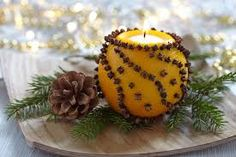 Aromatic Christmas orange with candle Christmas Bulbs, Christmas Decorations, Holiday Decor, Stock Foto, Homemade Candles, Christmas Inspiration, Art Lessons, Home Crafts, Candle Holders