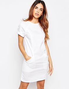 Warehouse Denim Shift Dress